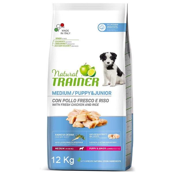 Natural Puppy & Junior Medium con Pollo Fresco - Sacco da 12 kg