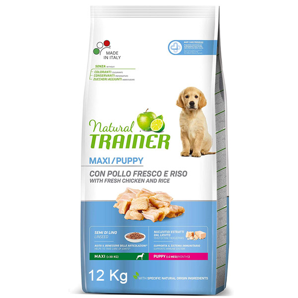 Natural Puppy Maxi con Pollo Fresco - Sacco da 12kg