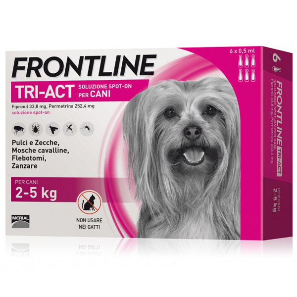 Frontline Tri-Act Spot-On 6 Pipette - 6 Pipette   Cane XS (2 - 5 Kg)