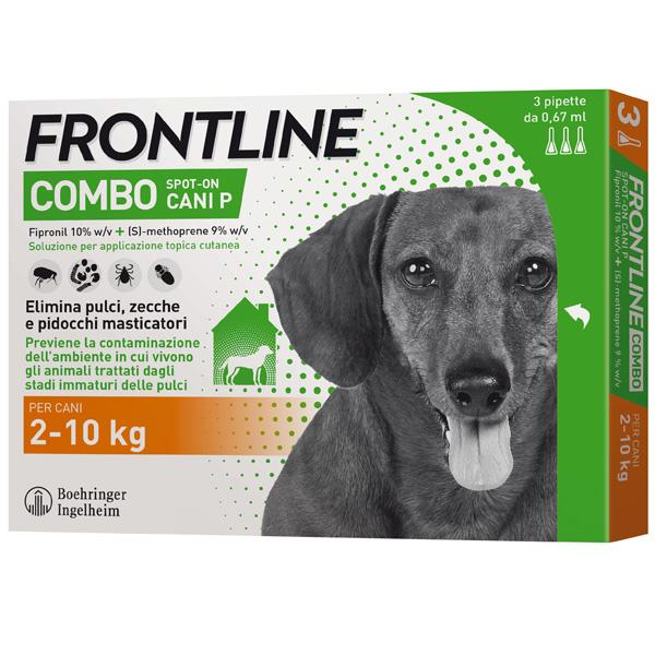 Frontline Combo per Cani - Combo Cani da 2 a 10kg - 3 Pipette 0,67 ml