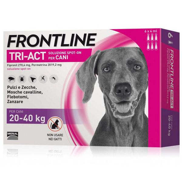 Frontline Tri-Act Spot-On 6 Pipette - 6 Pipette   Cane L (20 - 40 Kg)