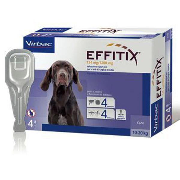 Effitix Soluzione Spot-On 4 Pipette - Cane Medium (10 - 20Kg) - 4 pipette