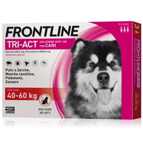 Frontline Tri-Act Spot-On 3 Pipette - 3 Pipette   Cane XL (40 - 60 Kg)