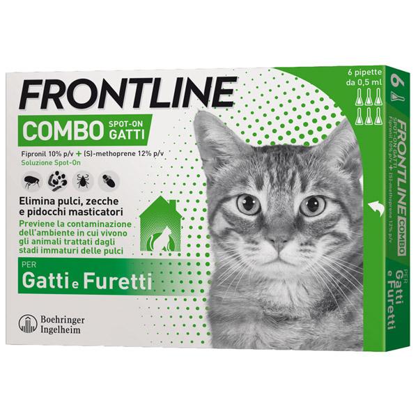 Frontline Combo per Gatti - 1 Confezione | 6 Pipette da 0,50 ml
