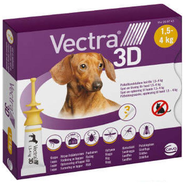 VECTRA 3D - Vectra 3D Giallo per Cani 1,5 - 4 Kg