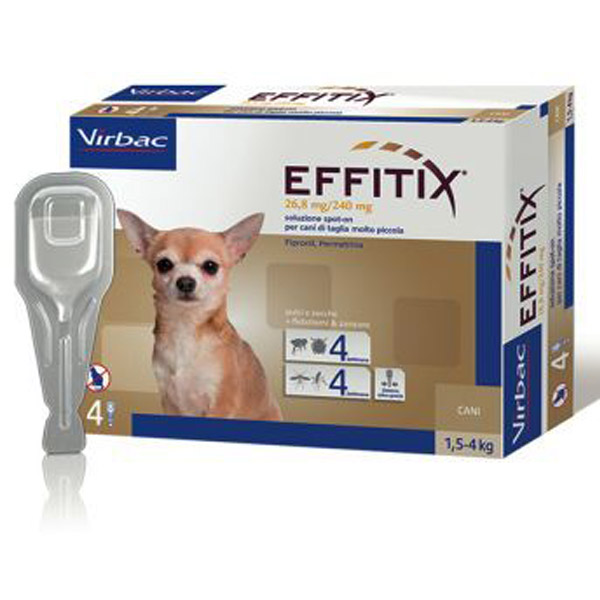 Effitix Soluzione Spot-On 4 Pipette - Cane Toy (1,5 - 4Kg) - 4 pipette