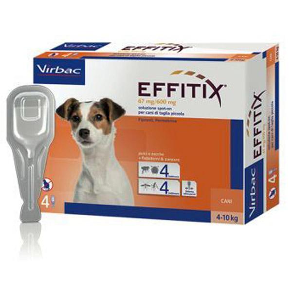 Effitix Soluzione Spot-On 4 Pipette - Cane Small (4 - 10Kg) - 4 pipette