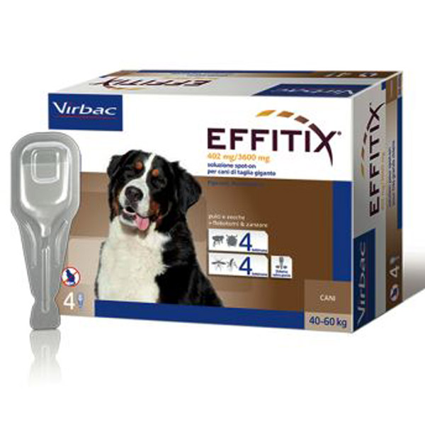 Effitix Soluzione Spot-On 4 Pipette - Cane XLarge (40 - 60Kg) - 4 pipette