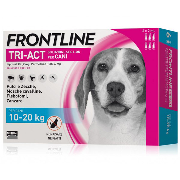 Frontline Tri-Act Spot-On 6 Pipette - 6 Pipette | Cane M (10 - 20 Kg)