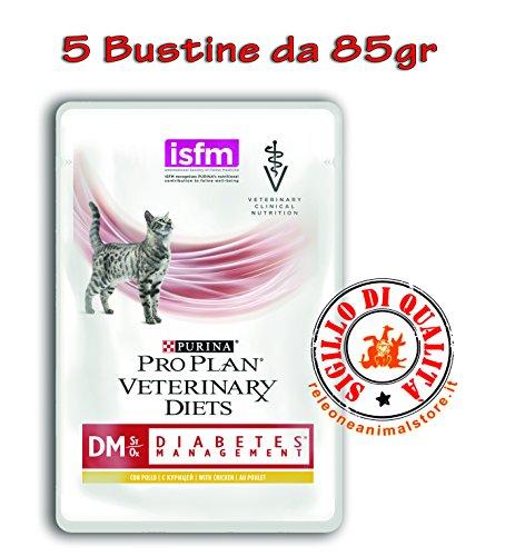 Purina veterinary diet dm diabetes management al pollo - 5 Bustine da 85 gr