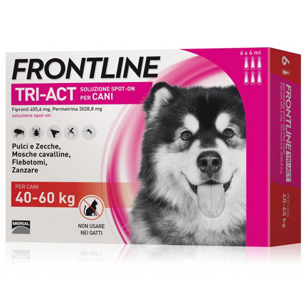 Frontline Tri-Act Spot-On 6 Pipette - 6 Pipette   Cane XL (40 - 60 Kg)