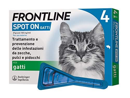 Frontline Spot On - Antiparassitario per Gatti - 4 Pipette da 0.5 ml