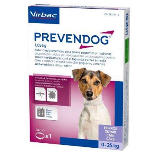Prevendog - Collare alla Deltametrina - 2 collare SMALL per Cani da 0-25 Kg