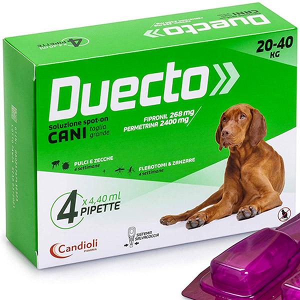 Candioli Duecto Spot Cane - 4 pipette Taglia L | 20-40 kg
