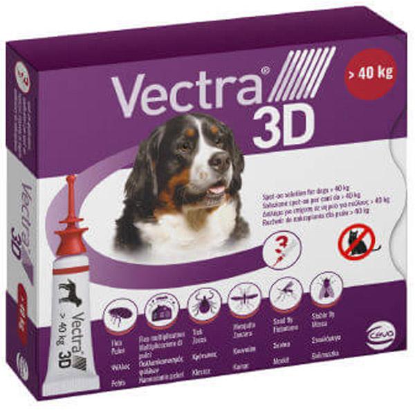VECTRA 3D - Vectra 3D Rosso per Cani > 40 Kg