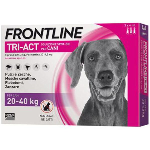 Frontline Tri-Act Spot-On 3 Pipette - 3 Pipette   Cane L (20 - 40 Kg)