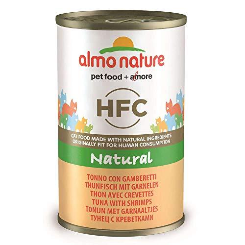 HFC Natural Tonno e Gamberetti - Almo Nature Cibo Umido per Gatti con Tonno E Gamberetti, 140 g