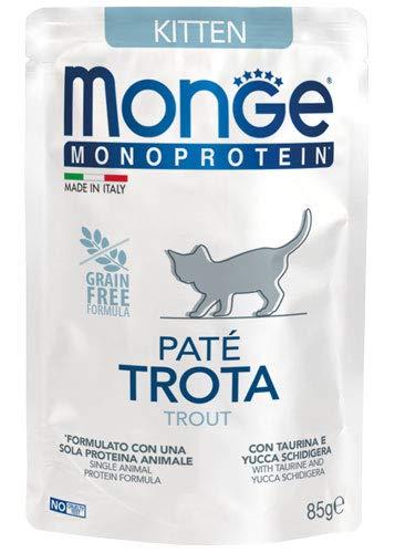 Monge Monoprotein Grain Free Patè Kitten Gusto Trota