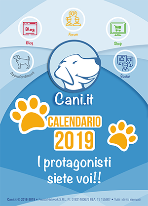 Calendario 2019 di Cani.it