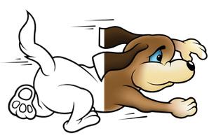 Stampa e colora cane in corsa