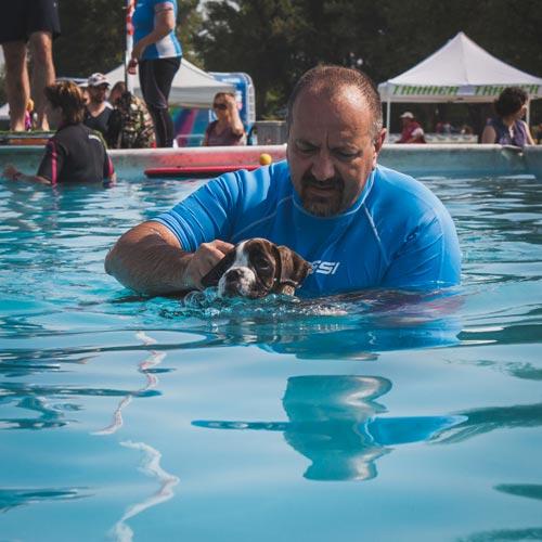 Insegnare al cane a nuotare